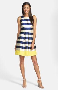 Eliza J Stripe Fit & Flare Dress | Nordstrom
