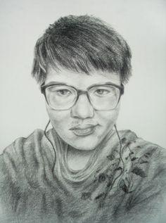 Art Drawing Portrait by Sittichai Pijitam (cycnas) Painting Prints, Art Drawings, Sculpture, Fine Art, Portrait, Headshot Photography, Sculptures, Portrait Paintings, Sculpting