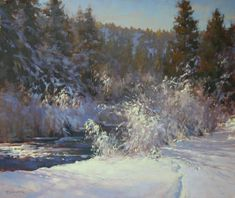 Painting Snow, Winter Painting, Winter Pastels, Oil Painters, Snow Scenes, People Art, Winter Landscape, Art World, Painting Inspiration