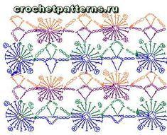 Схема вязания крючком узора Веснушки