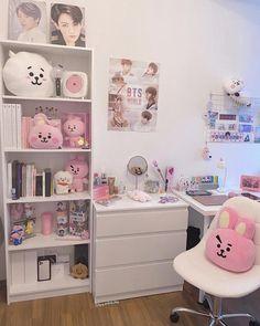 Room Design Bedroom, Room Ideas Bedroom, Bedroom Decor, Army Room Decor, Study Room Decor, Cute Room Ideas, Cute Room Decor, Kawaii Room, Game Room Design