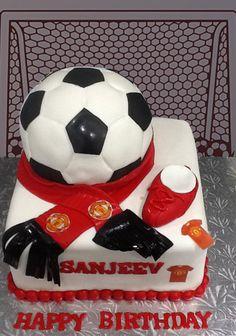 Manchester Ball Cake by MsTreatz - http://cakesdecor.com/cakes/286624-manchester-ball-cake