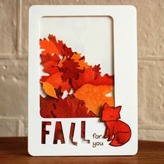 "Dreams & Other Realities: Lawn Fawn ""FALL for you"" Shaker Card... Clever twist on the shaker card."