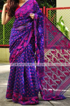 Jamdani Saree, Silk Sarees, Saris, Sari Dress, Ethnic Sarees, Designer Salwar Suits, Indian Designer Wear, Cotton Saree, Sarees Online