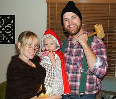 costume idea: little red riding hood, wolf as grandma & woodsman--except Hampton is going to be the wolf :) and I am going to be Grandma