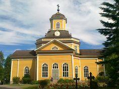 The Lutheran church Kaustinen. Central Ostrobothnia province of Western Finland - Keski-Pohjanmaa
