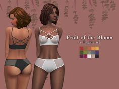 Nolan Sims here. I wanted something sleek and sexy for my game. So, I took the time and whipped up a bra/panty set. It also doubles as swimwear (If you're into that)! It's a separate top and...