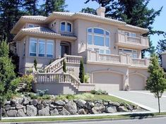 Search house plans and floor plans from the best architects and designers from across North America. Find dream home designs here at House Plans and More. House Plans And More, Luxury House Plans, Garage House Plans, House Floor Plans, See Through Fireplace, American Mansions, Alternate Exterior, Tuscan Style Homes, Mediterranean House Plans