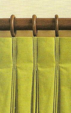 Inverted pinch pleat curtains