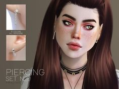 The Sims Resource: Piercing Set N20 by Pralinesims • Sims 4 Downloads