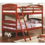Acme Furniture - Erik Cherry Finish Wood Kids Twin Twin Bunk Bed for Teen - M540   SPECIAL PRICE: $368.99