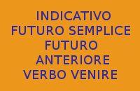 10 FRASI DA COPIARE SUL VERBO VENIRE AL FUTURO SEMPLICE E FUTURO ANTERIORE INDICATIVO