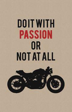 Triumph Bonneville Print - Do it With Passion - Limited Edition