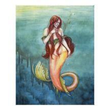 Marina Mermaid Print by Katherine Rose Barber