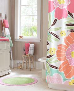 Tropical Floral Bathroom | PBteen