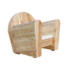 fauteuil club design vintage thierry marc bois recyclé | bois ...