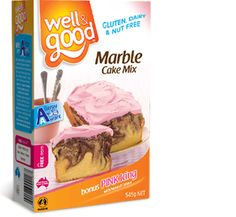 Well and Good Gluten Free Marble Cake Mix. #wellandgood