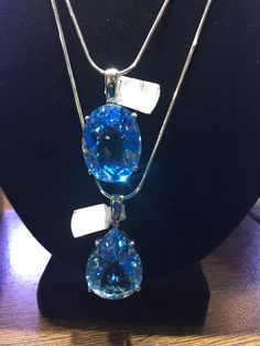 58 cts Blue Topaz huge Pendant by SofiaNicoli on Etsy