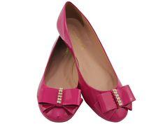 Sapatilha Verniz Laço Pink, DE R$109,90 POR R$79.90 + frete grátis! Para verificar a numeração e efetuar a compra é só entrar em contato pelo e-mail: vendas@sapatilhashop.com.br