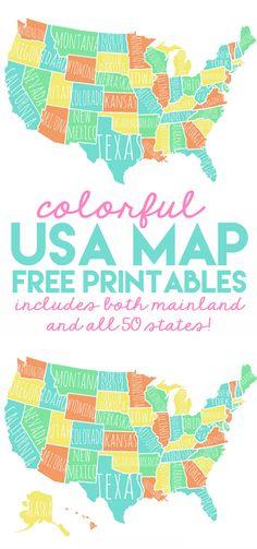 USA Summer Map Free printable Ol and Free