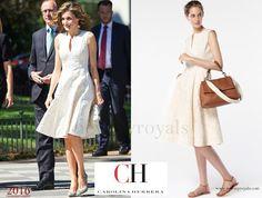 Queen Letizia wore Carolina Herrera  Dress -Spring 2016 Ready-to-Wear Collection