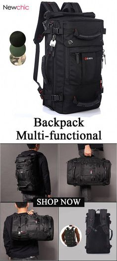 Oxford Backpack Casual Travel Single-shoulder Crossdody Bag Multi-functional Laptop Bag For Men is high-quality. Shop on NewChic and buy the best mens backpack for yourself. Cool Backpacks For Men, Men's Backpacks, Outdoor Backpacks, Laptop Backpack, Travel Backpack, Backpack Bags, Travel Packing, Solo Travel, Packing Lists