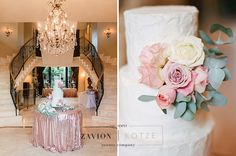 Stunning floral design, white, green, gold, orchids, white orchids, roses, pink, protea, proteas, gold under plates, raw wooden tables, ghost chairs, elegance. Wedding Cake by Kelly Jaynes. Wedding Day, wedding, luxury wedding, bride, bouquets, bouquet,  wedding cake, floral cake, flowers, gold sequin