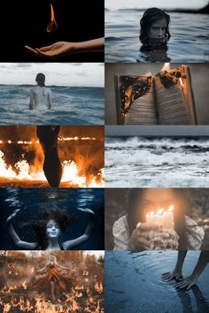 fire x water aesthetic (more here)