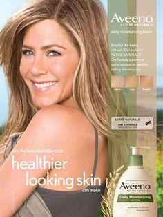 MELANIE-  Jennifer Aniston for Aveeno celebrity endorsement ads