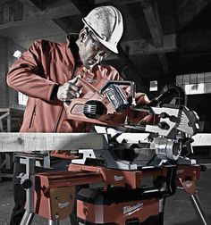 Milwaukee M18 Cordless Miter Saw in Use 8.5""