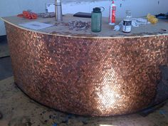 Penny counter tile wrap
