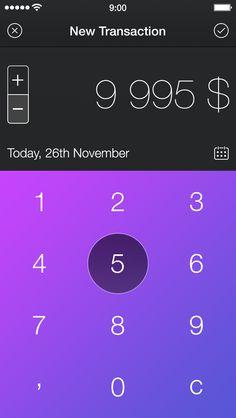 Walle Finance App [New Transaction Screen] / Alexander Zaytsev