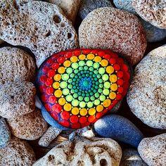 #YuliaArtDots #paintedstones #pebble #rock #stone #dots #Mandala #stonemandalas…