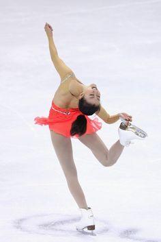 SHANGHAI, CHINA - NOVEMBER 02:  Mao Asada of Japan skates in the Ladies Short Program during Cup of China ISU Grand Prix of Figure Skating 2012 at the Oriental Sports Center on November 2, 2012 in Shanghai, China.