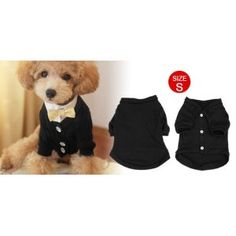 Chihuaha Doggy Dog Clothes Puppy Knitted Sweater Apparel Coat Black S: Amazon.co.uk: Pet Supplies