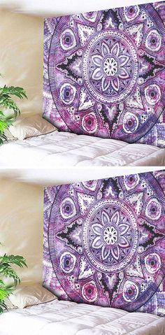 home decor:Wall Hanging Boho Mandala Print Tapestry