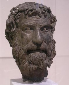 head of a philosopher 1st C. BCE wreck of a Roman ship off the Greek Isle of the Antikythera.