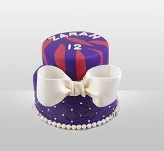 Verjaardagstaart paars