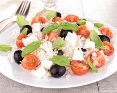 Caprese Salad, Cobb Salad, Feta, Entrees, Gluten, Rice, Cheese, Recipes, Chopped Salads