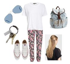 """""""IDK"""" by veronicabrooks1 ❤ liked on Polyvore featuring Markus Lupfer, rag & bone/JEAN, Converse, Ray-Ban, France Luxe, Aéropostale and CB2"""