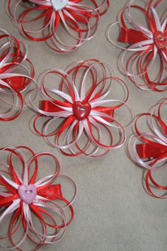 Items similar to SALE Valentine's Day Pretty Flower Hair Clip on Etsy Making Hair Bows, Diy Hair Bows, Diy Bow, Flower Hair Clips, Flowers In Hair, Fabric Flowers, Hair Decorations, Boutique Hair Bows, Girls Hair Accessories