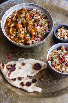 Thai Peanut Chicken and Pumpkin Curry w/Sticky Pomegranate Rice   halfbakedharvest.com @hbharvest