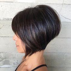 10 Best Bob Hairstyles for 2019 – Cute Short Bob Haircuts Latest Bob Hairstyles for Short Hair, Women Short Haircut Trends Bob Hairstyles For Thick, Short Layered Haircuts, Messy Hairstyles, Layered Hairstyles, Stacked Haircuts, Hairstyle Ideas, Hair Ideas, Short Hair With Layers, Short Hair Cuts