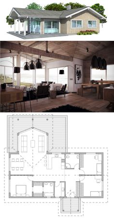 Single story home plan