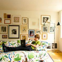 Gallery wall in Lisa Eldridge's house