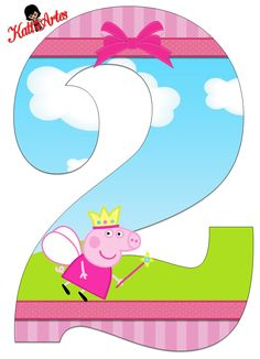 EUGENIA - KATIA ARTS - LETTERS AND CUSTOM BLOG few things: Peppa and George Personalized Numbers