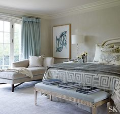 Suzanne Kasler. [Blog]  Intimate Retreats 17 Gorgeous Bedrooms with Cozy Decorative Rugs