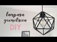 LAMPARA GEOMETRICA CON PITILLOS / LAMPARA NORDICA DIY - YouTube Geometric Lamp, My Room, Ideas Para, Bedroom Decor, Ceiling Lights, Diy Lamps, Youtube, Home Decor, Bedrooms
