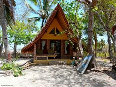I am such a beach bum, I could live here forever. Gili Air bungalow, Gili Islands, Indonesia