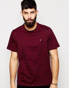 T-Shirt von Farah Baumwoll-Jersey Rundhalsausschnitt aufgesticktes Logo auf der Brust reguläre Passform - entspricht den Größenangaben Maschinenwäsche 100% Baumwolle Model trägt Größe M und ist 181cm/5 Fuß und 11,5Zoll groß